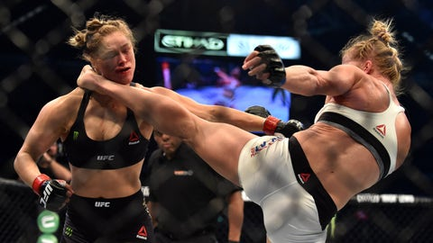 2015: Holly Holm defeats Ronda Rousey, UFC 193