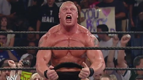 Lesnar vs. The Rock, SummerSlam 2002