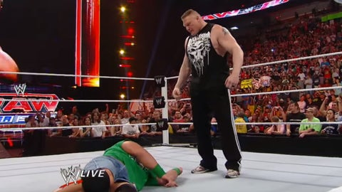 Lesnar returns to WWE, April 2, 2012