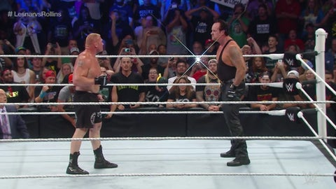 The Undertaker spoils Lesnar's win over Seth Rollins, Battleground 2015
