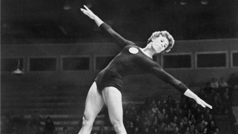 Larisa Latynina (six medals in 1956, 1960 and 1964)