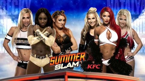 Carmella, Becky Lynch and Naomi vs. Natalya, Alexa Bliss and a wrestler to be determined