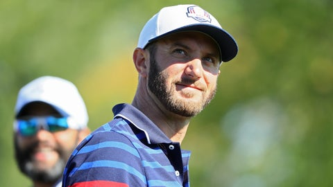 USA's Dustin Johnson and Matt Kuchar vs. Europe's Lee Westwood and Thomas Pieters