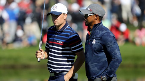 USA's Jordan Spieth and Patrick Reed vs. Europe's Justin Rose and Henrik Stenson