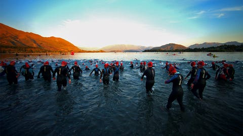 An early morning swim in New Zealand