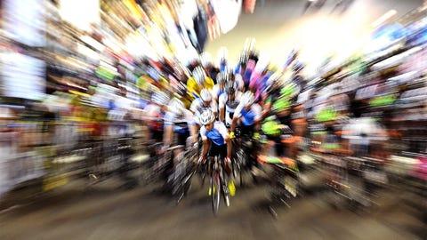 Blurred bikes
