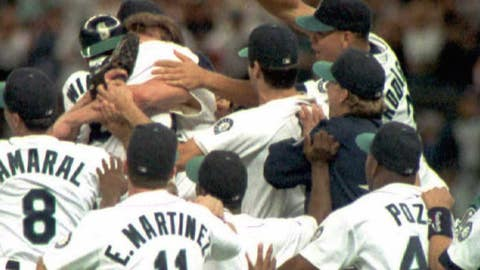 The Seattle Mariners catch the California Angels to capture the AL West (1995)