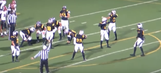High school football team performs Mannequin Challenge during two-point conversion attempt