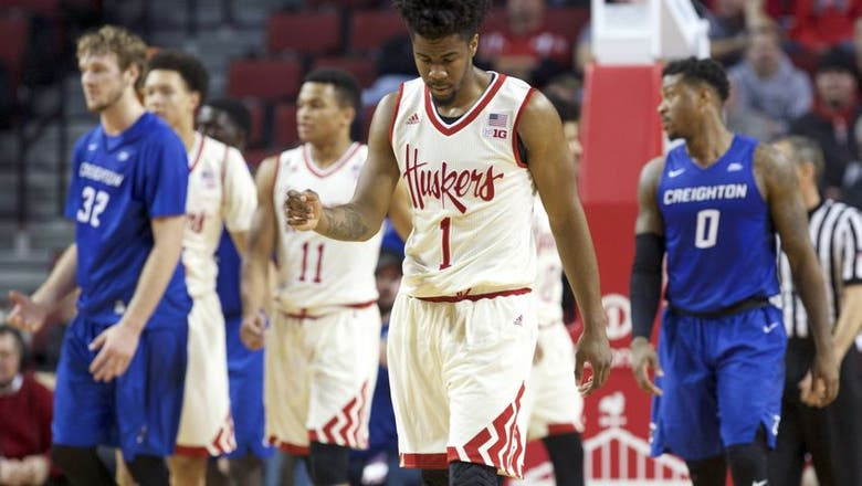 Men's Nebraska Basketball Struggles Against Creighton; Falls 77-62