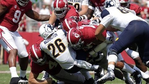 Auburn at Alabama (-17.5)