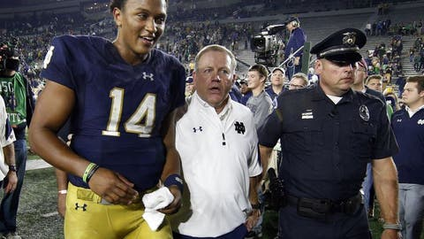 Notre Dame would bounce back from an opening-night loss to Texas and make a New Year's Six Bowl