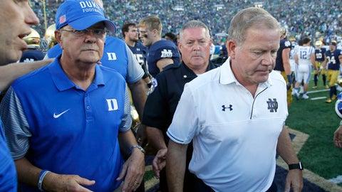Notre Dame vs. Syracuse (at MetLife Stadium, New York) (Saturday, 12 p.m. ET)