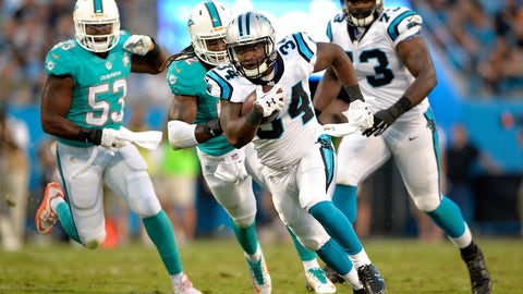 Who will step in for Jonathan Stewart?
