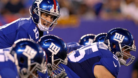 Giants left tackle Ereck Flowers and Eli Manning can't get it together