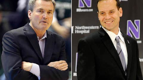 Northwestern: Bill Carmody (left) out; Chris Collins in