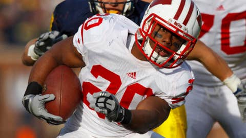 RB James White, Wisconsin