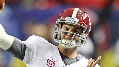 Image: Alabama QB AJ McCarron (© Daniel Shirey/USA TODAY Sports)
