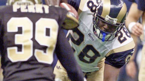 Marshall Faulk, Week 17 (Dec. 24), 2000 at New Orleans (57.1 points)