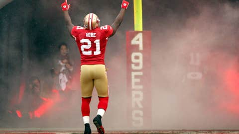 9. Frank Gore goes quietly into the night