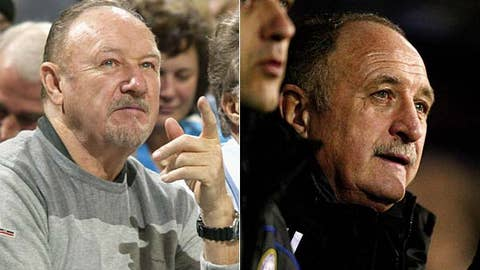 Gene Hackman and Luiz Felipe Scolari