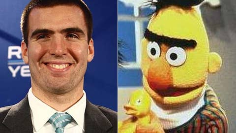 Joe Flacco and 'Sesame Street' character Bert