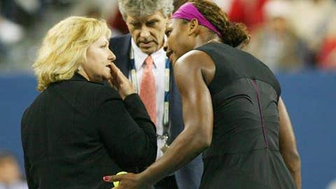 U.S. Open: Serena's foot-in-her-mouth fault