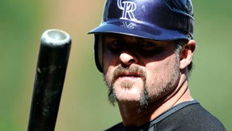 First baseman Jason Giambi, Colorado (39)