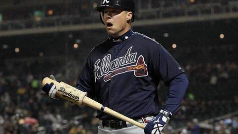 Slowing down: Chipper Jones, Braves
