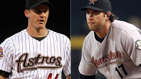 Roy Oswalt (left) and Lance Berkman, Astros