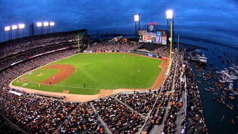 AT&T Park, home to the San Francisco Giants