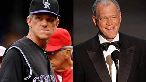 Jim Tracy and Dave Letterman