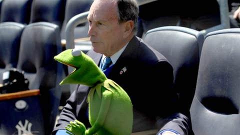 Mayor Bloomberg and Kermit