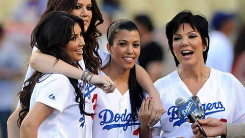 Reality TV stars, Los Angeles Dodgers