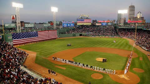 Old Glory on Green Monster