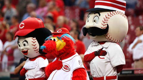 Rosie Red, Gapper and Mr. Redlegs, Cincinnati Reds