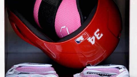 Nice pink gloves, bro!