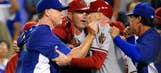 Dodgers and Diamondbacks brawl at Dodger Stadium