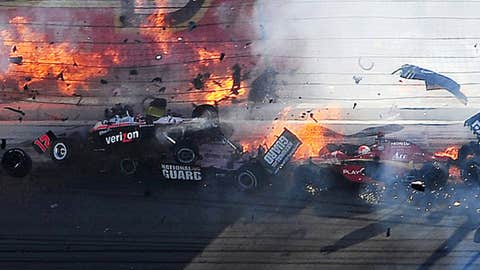 Indy Car series crash