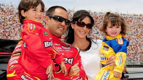 Juan Pablo Montoya with Sebastian and Paulina