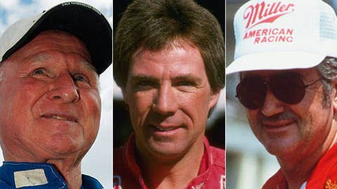 Cale Yarborough, Darrell Waltrip and Bobby Allison
