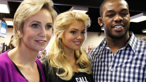 Jane Lynch, Kate Upton and Jon Jones