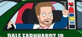 Junior, Stewart and Kahne on 'The Cleveland Show'