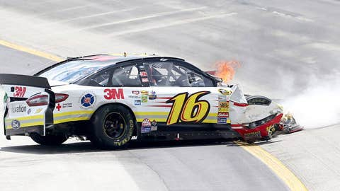 Greg Biffle, driver of the #16 3M/National Fallen Firefighter's Foundation Ford
