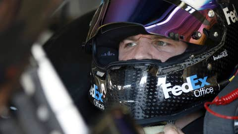 Hamlin helmets up