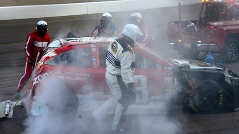 David Reutimann's ride gets hot