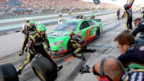 Danica gets new tires and some gas