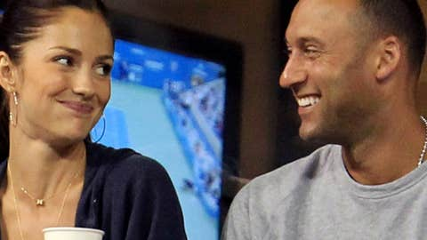 Image: Minka Kelly and Derek Jeter (© Chris McGrath/Getty Images)