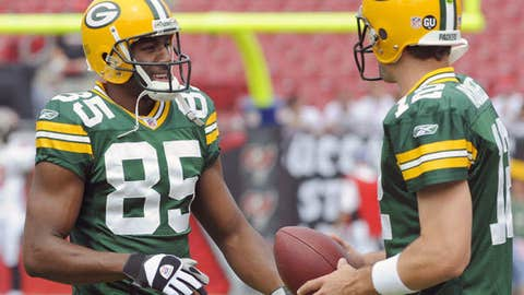 Aaron Rodgers to Greg Jennings, Green Bay Packers