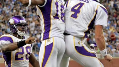 Brett Favre to Sidney Rice, Minnesota Vikings