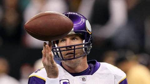 46. Brett Favre, QB, Vikings (2009 Rank: Unranked)